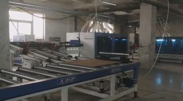 PVC flooring production line video