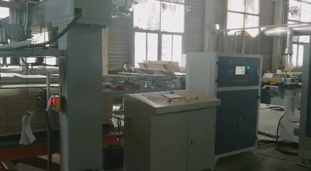 Solid wood laminate flooring production line video