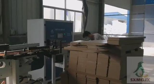 Laminate flooring production line video